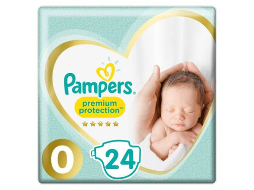 PAMPERS Premium Protection New Baby Luiers Micro Maat 0 | 24st 1