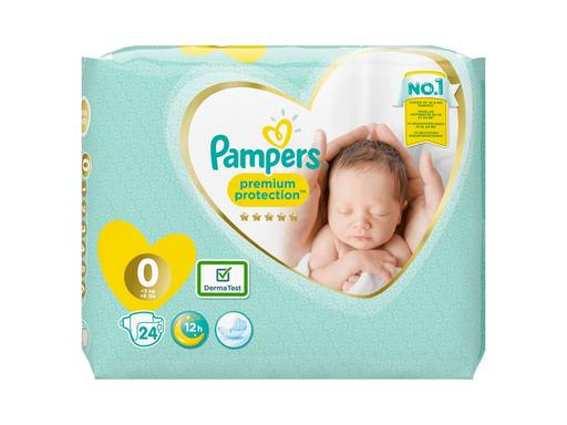 PAMPERS Premium Protection New Baby Luiers Micro Maat 0 | 24st 2