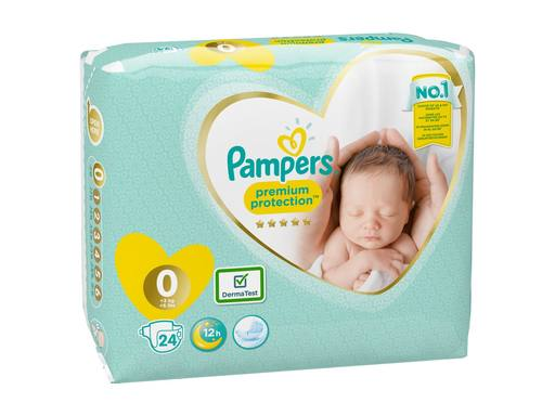PAMPERS Premium Protection New Baby Luiers Micro Maat 0 | 24st 3