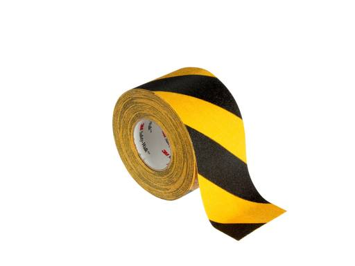 3M™ Safety-Walk™ Slip-Resistant Tapes and Treads 613 Black/Yellow Stripe - 152.4mm x 18.3mtr | 1st 1
