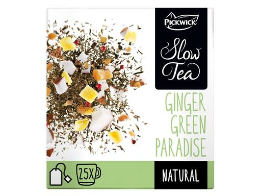 PICKWICK Slow Tea Green Ginger Paradise | 25x2.7gr 1